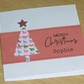Personalised Kids Christmas card - blue or pink