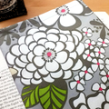 Satchi Grey Floral Fabric Book Cover