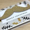 Merry Christmas card - moustache