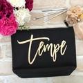 Personalised Makeup Bag, Large Cosmetic Bag, Bride Gift, Gift for Girlfriend