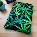 Cannabis Fabric Padded Book Sleeve