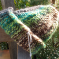 knitted baby beanie made from pure wool. greens and browns ON SALE!!!