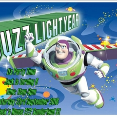 Disney/Pixar Toy Story Buzz Lightyear print at home Invitations