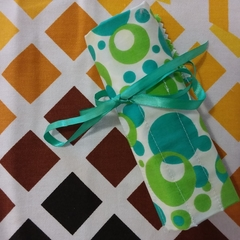 Crochet Hook Handy Wrap-Funky Green Print
