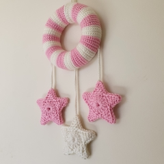 Fairy Floss Pink & White Dream Wreath Nursery Decor