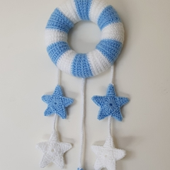 Blue & White Dream Wreath Nursery Decor
