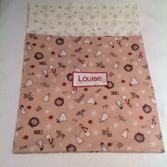Personalised Santa Sack in Whimsical Snowman Fabric
