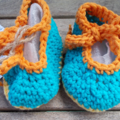 "Handmade baby set - beret and ""dancing feet"" shoes ON SALE!!"