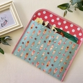 A4 Reading folder - Feathers blue/pink