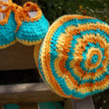 """Handmade baby set - beret and """"dancing feet"""" shoes ON SALE!!"""