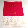 Personalised Santa Sack in Red and Christmas Tree Fabric