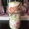Birds pattern candle