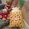 Personalised Santa Sack in Christmas Nativity Fabric