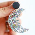 Sparkling Celestial Luna Statement Earrings • Surgical Steel