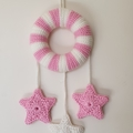 Fairy Floss Pink & White Dream Wreath Nursery Decor