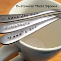 Custom Text, Birthday Gift, Personalised Teaspoon,husband gift, wife gift