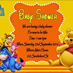 Disney Winnie the Pooh print at home Baby Shower Invitation