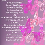 Pink Butterfly Digital Invitations