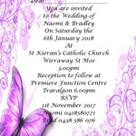 Purple Butterfly Flourish print at home Invitation