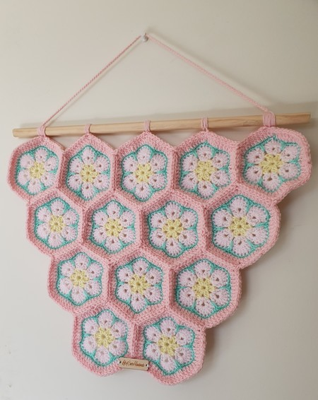 African Flower Wall Hanging