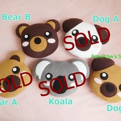 Bear Dog Mini Pillow Plush Soft Toy Nursery Home Decor Birthday Christmas Gift