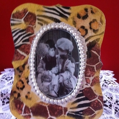 Frame with animal print pattern