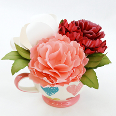 All Hearts Paper Flower Tea Cup