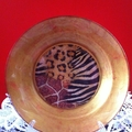 decorations plate with animal print pattern