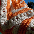 Hand crocheted baby rug, for floor, car seat or pram ON SALE!!!