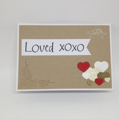 """Loved"" - Anniversary, Love, Valentine's Card"