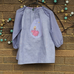 Art smock for 5 - 8 year old. Sleeping Beauty, Princess Aurora.