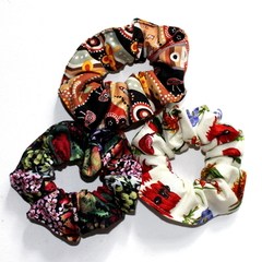 Set of 3 Australiana Hair Scrunchies