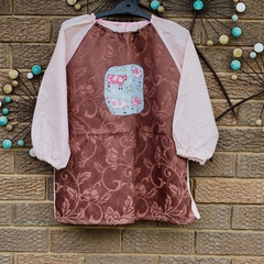 Art smock for 5 - 8 year old - pink cows.
