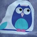 Toddler's art smock Age 2-3 Owl