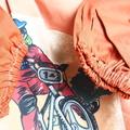 Art smock age 9 - 12 years (upper primary school) BMX, tan.