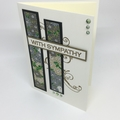Sympathy Card - Japanese Paper, Cream, Gold and Green
