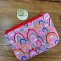 Coin purse - pink rainbow