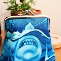 Shark Week coin purse // medium size // gift idea
