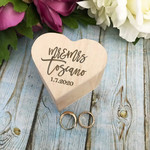 Personalised Heart Ring Box, Rustic Style  Wedding Ring Box Keepsake