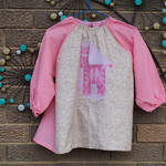 Art smock for 3 - 4 year old - Pink tiger