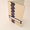 Father's Day Card - Zig Zag in Neutral Tones