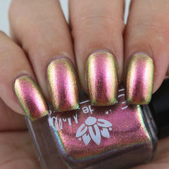 "Nail polish - ""City Of Light"" A pale nude base with shimmer"