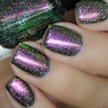 """Nail polish - """"Tenfold"""" A moss green base with aurora pigment"""