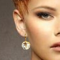Citrine crystal earrings