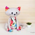 Cat Softie Pattern PDF Sewing Pattern Cat Stuffed Animal