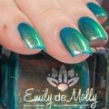 """Nail polish - """"Botanical Musings"""" A dark teal green with shimmer."""