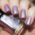 "Nail polish - ""Flatline"" An ultra holographic pink / purple / taupe base"