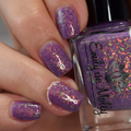 "Nail polish - ""Magic Maker"" A mauve / purple with iridescent flakes"