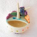 Mini Ceramic Planter/Jewellery Dish with Tree and Sloth