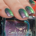 """Nail polish - """"Pale Horse"""" A bright pink / gold / green multichrome."""